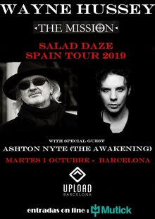 WAYNE HUSSEY (The Mission) + Ashton Nyte en Barcelona - Upload