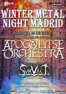 Event winter metal night silikona