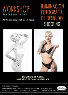 Event cartel taller desnudo abril 20