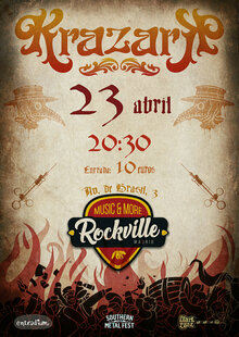 Event cartel krazark 23 abril  s