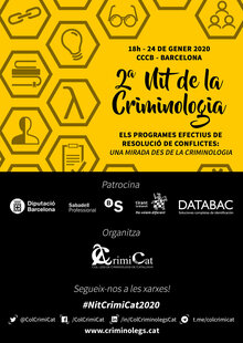 Event cartell nit criminologia 2020 entradium