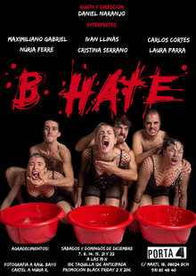 Event cartel b hate  porta4 teatro