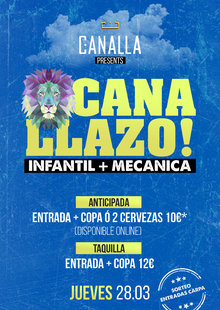 Canallazo! Infantil + Mecánica @ Canalla (Pamplona)