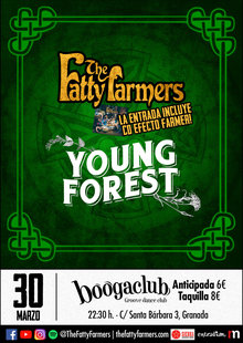 The Fatty Farmers + Young Forest en SalaBooga Club