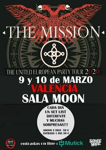 THE MISSION + Gene Loves Jezebel en VALENCIA - The United European Party Tour 2020