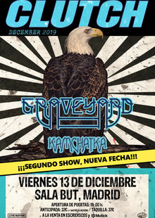 CLUTCH + Graveyard + Kamchatka en Madrid - BUT