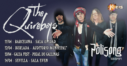 The Quireboys nueva Gira en Abril de 2019