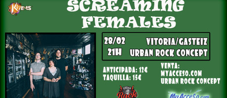 Ya a la venta  entradas para Screaming Females en Vitoria/Gasteiz el 28 de Febrero