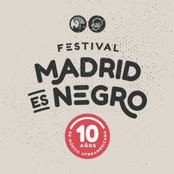 Large logo madrid negro