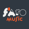 Medium faro music quad name white